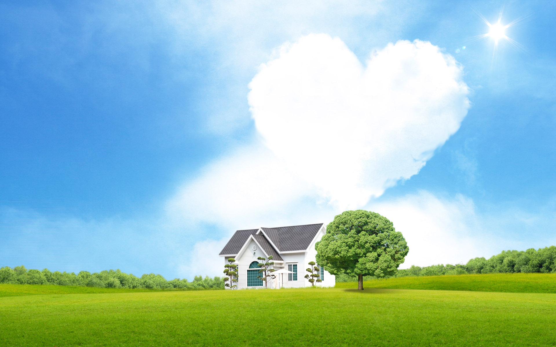 Dream love house wallpaper